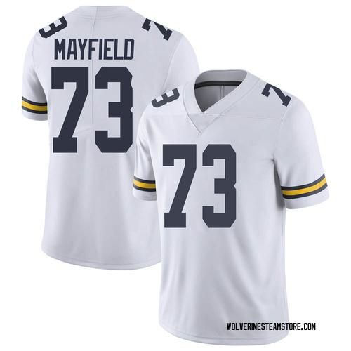 Men's Jalen Mayfield Michigan Wolverines Limited White Brand Jordan Football College Jersey