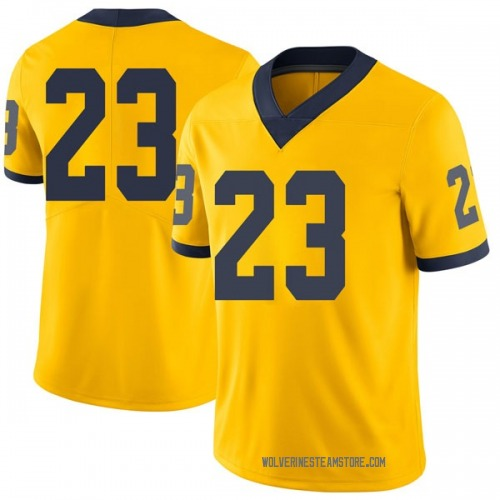 Men's Jared Davis Michigan Wolverines Limited Brand Jordan Maize Football College Jersey