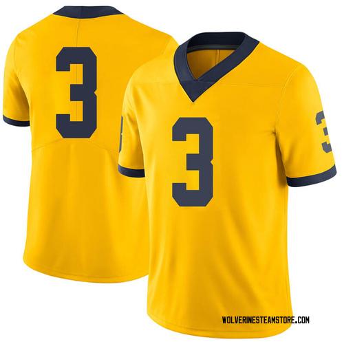 Men's Joe MIlton Michigan Wolverines Limited Brand Jordan Joe Milton Maize Football College Jersey