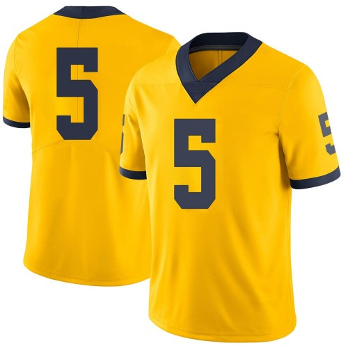 Men's Joe MIlton Michigan Wolverines Limited Brand Jordan Maize Football College Jersey