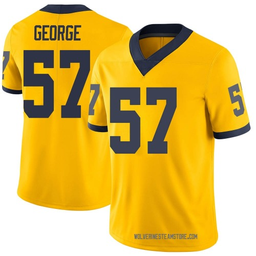 Men's Joey George Michigan Wolverines Limited Brand Jordan Maize Football College Jersey