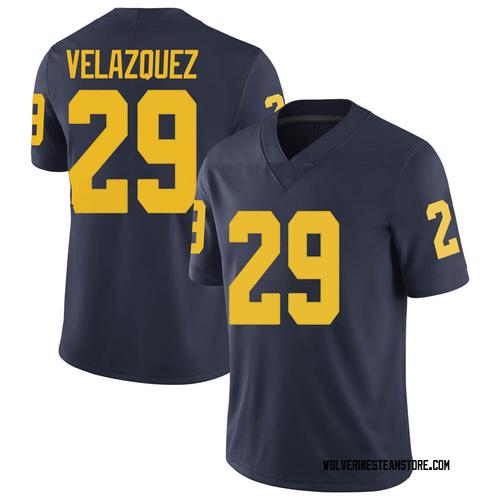 Men's Joey Velazquez Michigan Wolverines Limited Navy Brand Jordan Football College Jersey