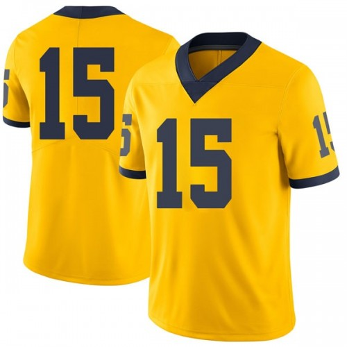 Men's Jon Teske Michigan Wolverines Limited Brand Jordan Maize Football College Jersey