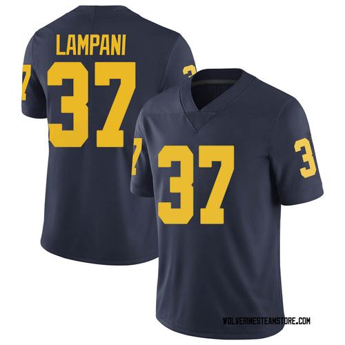 Men's Jonathan Lampani Michigan Wolverines Limited Navy Brand Jordan Football College Jersey