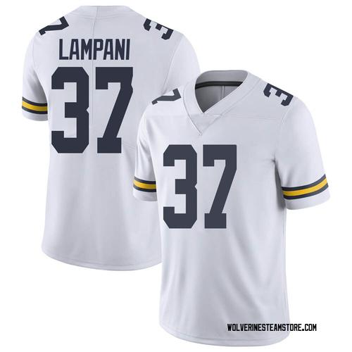 Men's Jonathan Lampani Michigan Wolverines Limited White Brand Jordan Football College Jersey