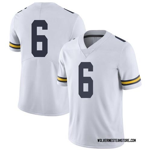 Men's Josh Uche Michigan Wolverines Limited White Brand Jordan Football College Jersey
