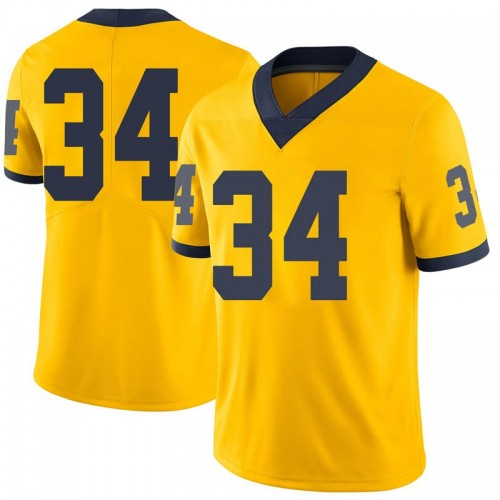 Men's Julian Garrett Michigan Wolverines Limited Brand Jordan Maize Football College Jersey