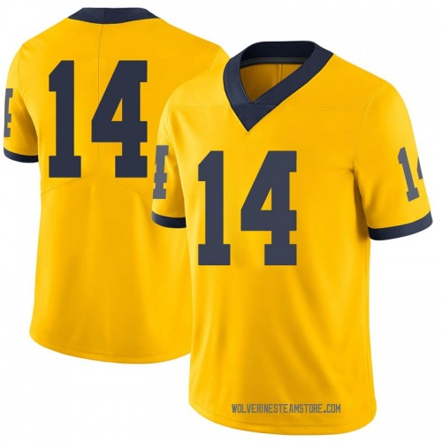 Men's Kyle Grady Michigan Wolverines Limited Brand Jordan Maize Football College Jersey