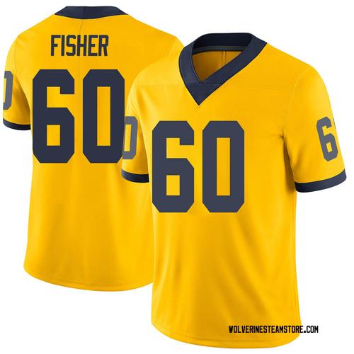 Men's Luke Fisher Michigan Wolverines Limited Brand Jordan Maize Football College Jersey