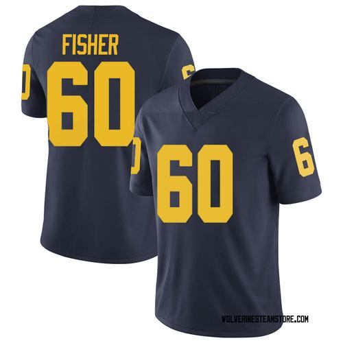 Men's Luke Fisher Michigan Wolverines Limited Navy Brand Jordan Football College Jersey