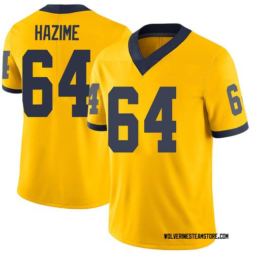 Men's Mahdi Hazime Michigan Wolverines Limited Brand Jordan Maize Football College Jersey