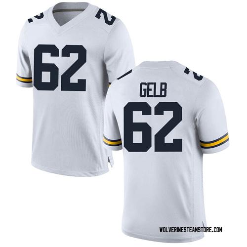 Men's Mica Gelb Michigan Wolverines Replica White Brand Jordan Football College Jersey