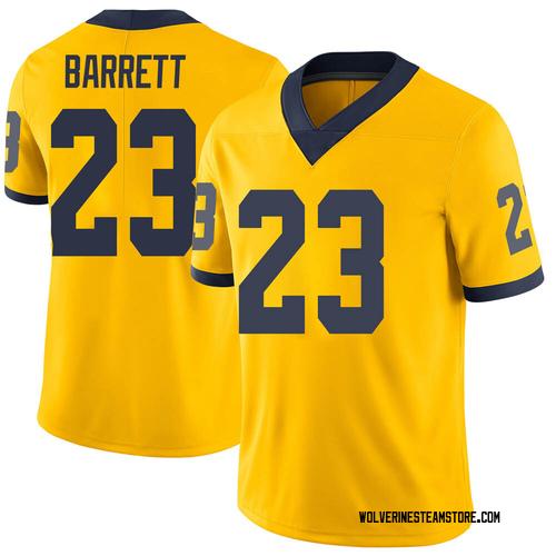 Men's Michael Barrett Michigan Wolverines Limited Brand Jordan Maize Football College Jersey