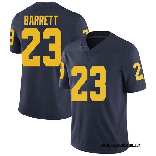 Men's Michael Barrett Michigan Wolverines Limited Navy Brand Jordan Football College Jersey