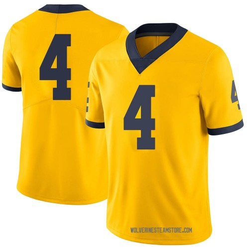 Men's Mike Danna Michigan Wolverines Limited Brand Jordan Maize Football College Jersey