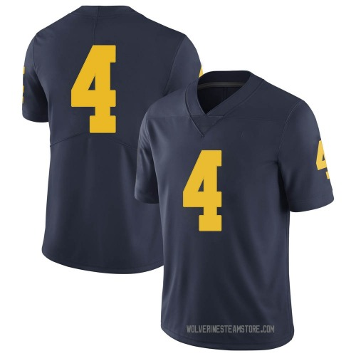 Men's Mike Danna Michigan Wolverines Limited Navy Brand Jordan Football College Jersey