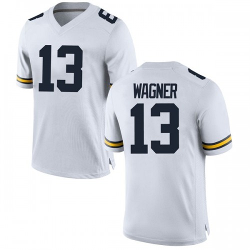 Men's Moritz Wagner Michigan Wolverines Game White Brand Jordan Football College Jersey