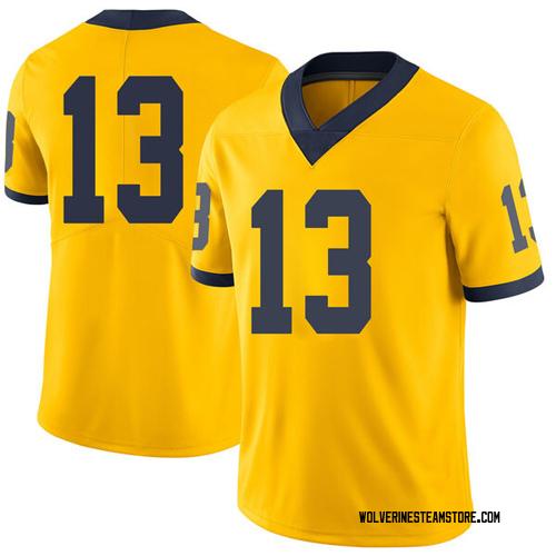 7ca296b074b Men's Moritz Wagner Michigan Wolverines Limited Brand Jordan Maize Football  College Jersey