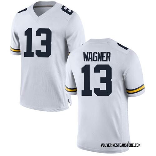 Men's Moritz Wagner Michigan Wolverines Replica White Brand Jordan Football College Jersey