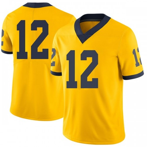Men's Muhammad-Ali Abdur-Rahkman Michigan Wolverines Limited Brand Jordan Maize Football College Jersey