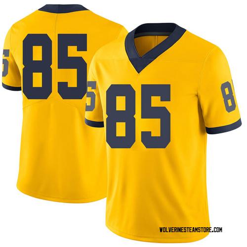 Men's Mustapha Muhammad Michigan Wolverines Limited Brand Jordan Maize Football College Jersey