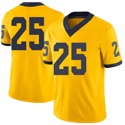 Men's Naji Ozeir Michigan Wolverines Limited Brand Jordan Maize Football College Jersey