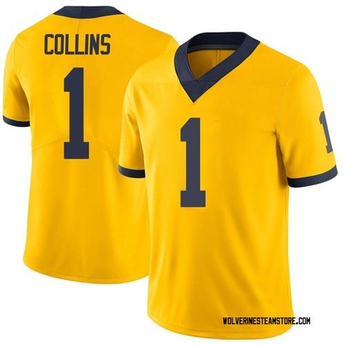 Men's Nico Collins Michigan Wolverines Limited Brand Jordan Maize Football College Jersey