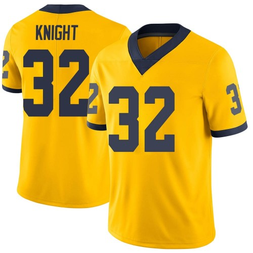 Men's Nolan Knight Michigan Wolverines Limited Brand Jordan Maize Football College Jersey