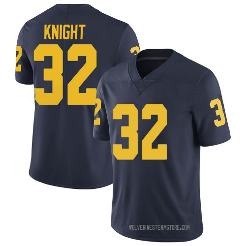 Men's Nolan Knight Michigan Wolverines Limited Navy Brand Jordan Football College Jersey