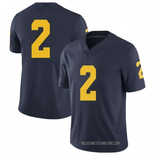 Men's Oliver Martin Michigan Wolverines Limited Navy Brand Jordan Football College Jersey