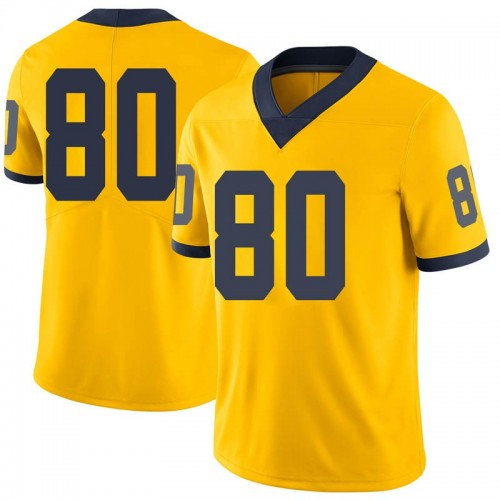 Men's Oliver Martin Michigan Wolverines Limited Olive Brand Jordan Maize Football College Jersey