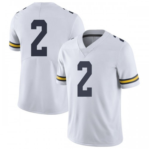 Men's Oliver Martin Michigan Wolverines Limited White Brand Jordan Football College Jersey