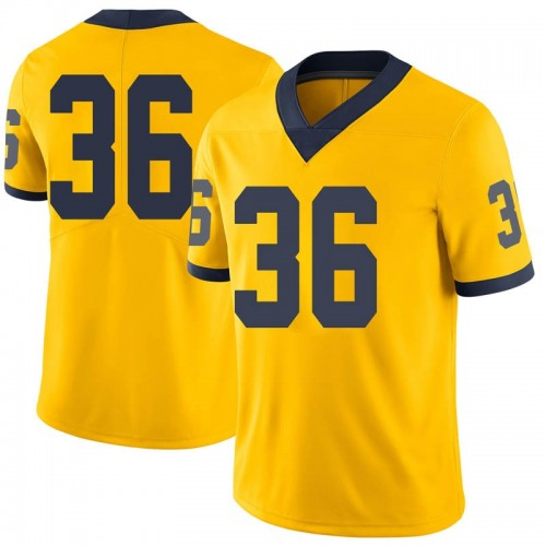 Men's Ramsey Baty Michigan Wolverines Limited Brand Jordan Maize Football College Jersey