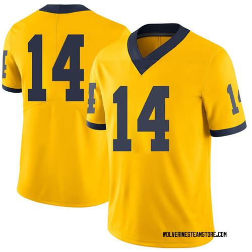 Men's Rico Ozuna-Harrison Michigan Wolverines Limited Brand Jordan Maize Football College Jersey
