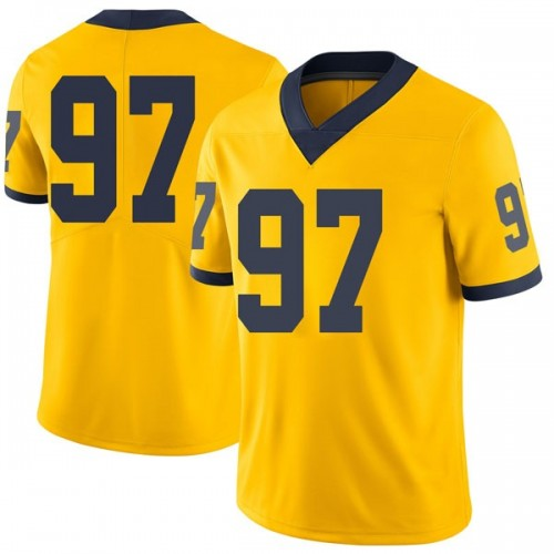 Men's Ron Johnson Michigan Wolverines Limited Brand Jordan Maize Football College Jersey