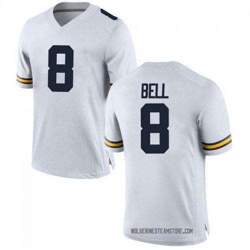 Men's Ronnie Bell Michigan Wolverines Replica White Brand Jordan Football College Jersey