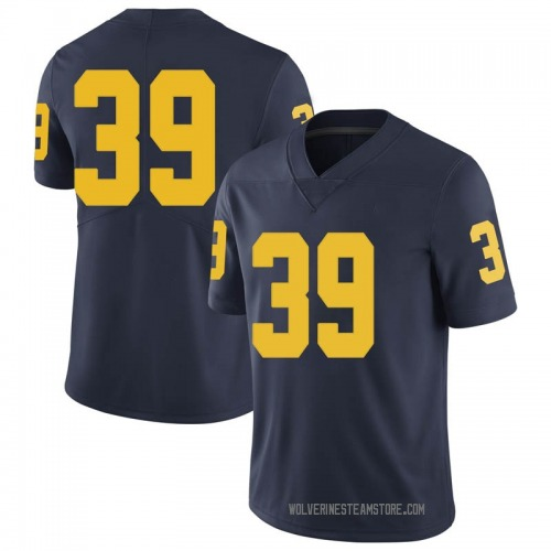 Men's Ryan McCurry Michigan Wolverines Limited Navy Brand Jordan Football College Jersey