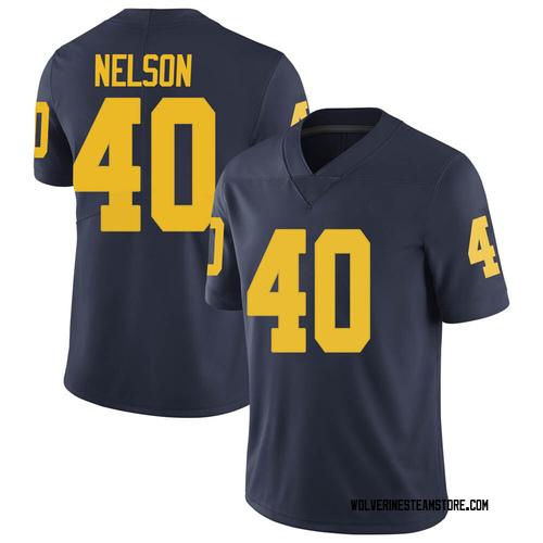 Men's Ryan Nelson Michigan Wolverines Limited Navy Brand Jordan Football College Jersey