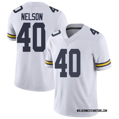 Men's Ryan Nelson Michigan Wolverines Limited White Brand Jordan Football College Jersey