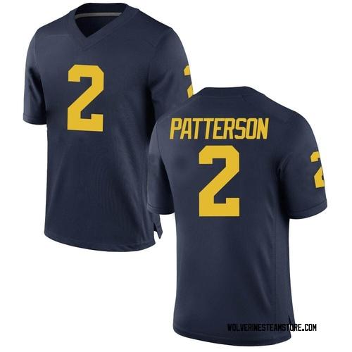 Men's Shea Patterson Michigan Wolverines Game Navy Brand Jordan Football College Jersey
