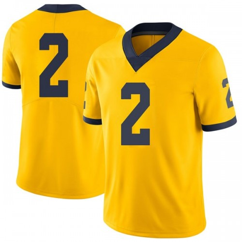Men's Shea Patterson Michigan Wolverines Limited Brand Jordan Maize Football College Jersey