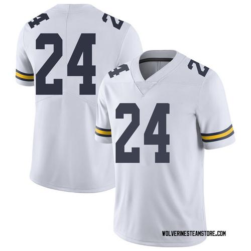 Men's Tru Wilson Michigan Wolverines Limited White Brand Jordan Football College Jersey