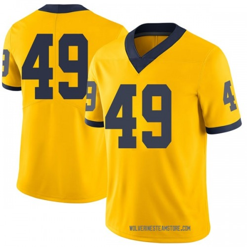 Men's Tyler Plocki Michigan Wolverines Limited Brand Jordan Maize Football College Jersey