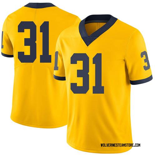 Men's Vincent Gray Michigan Wolverines Limited Gray Brand Jordan Maize Football College Jersey