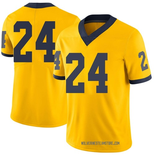 Men's Zach Charbonnet Michigan Wolverines Limited Brand Jordan Maize Football College Jersey
