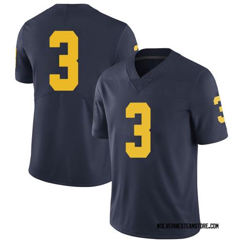 Men's Zavier Simpson Michigan Wolverines Limited Navy Brand Jordan Football College Jersey