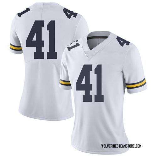Women's Adam Fakih Michigan Wolverines Limited White Brand Jordan Football College Jersey