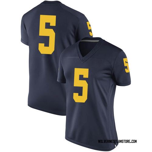 Women's Adrien Nunez Michigan Wolverines Replica Navy Brand Jordan Football College Jersey