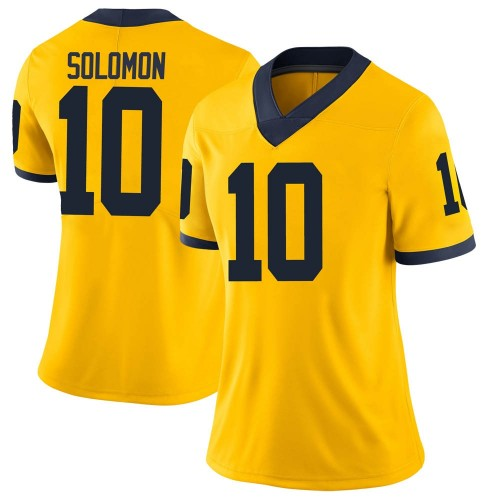 Women's Anthony Solomon Michigan Wolverines Limited Brand Jordan Maize Football College Jersey