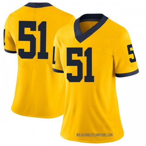 Women's Austin Davis Michigan Wolverines Limited Brand Jordan Maize Football College Jersey
